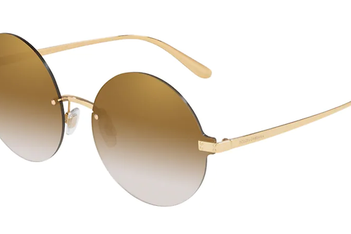Dolce & Gabbana - Dourado - Lente Marrom c/ Espelhado Dourado - 222802/6E62