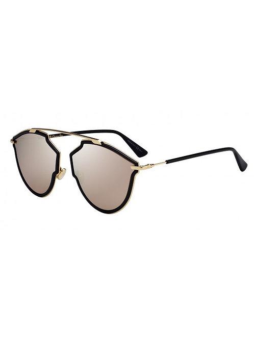 Dior So Real Rise - Preto/Dourado Espelhado - SOREAL RISE 2M2 59