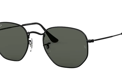Ray Ban - Hexagonal Preto - Lente G15 green Polarizado - 3548NL 002/5851