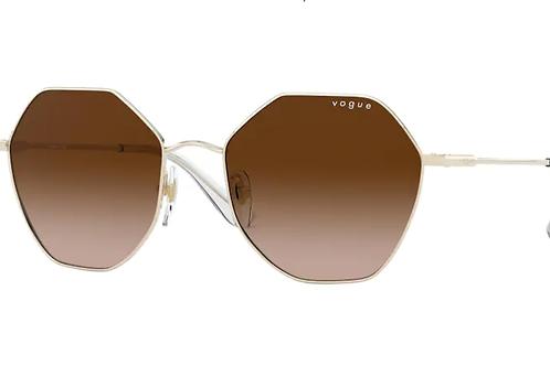 Vogue - Dourado - Lente Marrom Claro Degrade -4180S848/1354