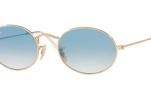 Ray-Ban Oval - Dourado/Azul Degradê - 3547N 001/3F 51