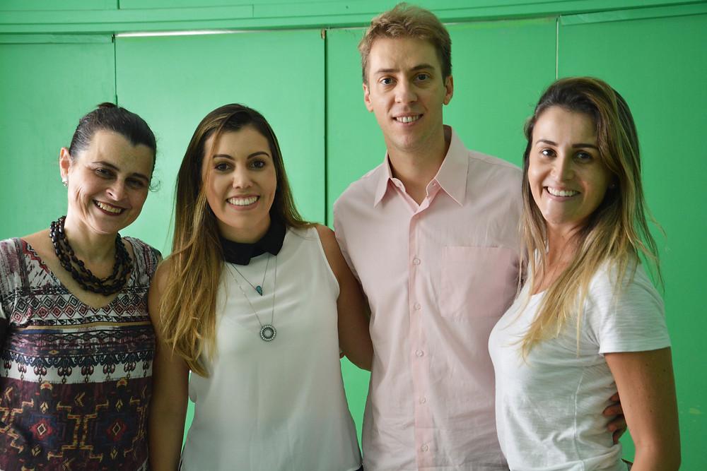 Rosana Menezes, Deborah Fortuna, Thiago Capilla e Marina Padilha coordenaram a ação na Fundação Espírita Allan Kardec