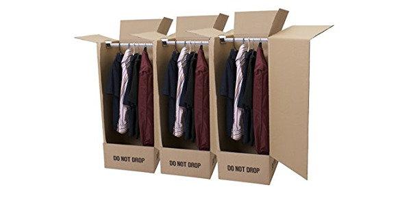 Single Wardrobe Box with Rail