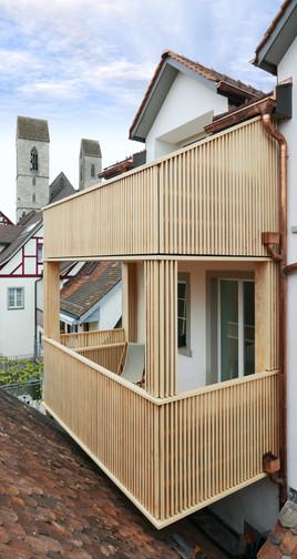 Balkon von Dach