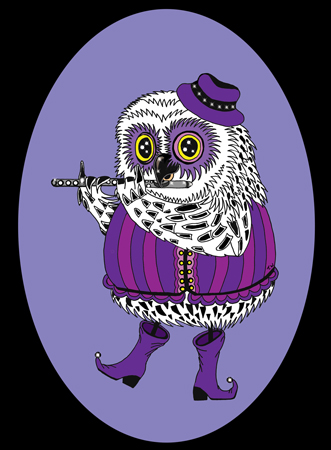 Flute-Owl-for-web-Left2-Black