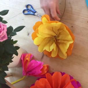 Tissue Paper Flowers Tutorial