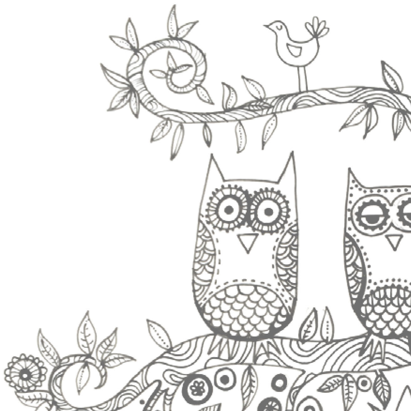 Printable Sleepy Owls