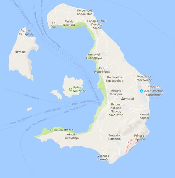 Perissa map