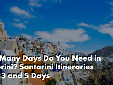 How Many Days Do You Need in Santorini? Santorini Itineraries for 1, 3 and 5 Days