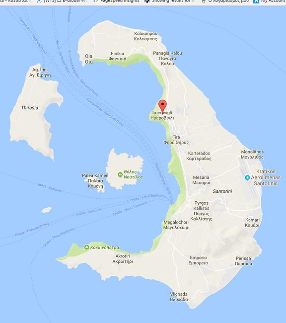 Imerovigli Map