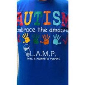 LAMP- Autism Embrace the amazing t-shirt