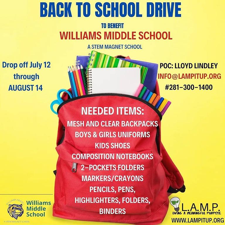 LAMP Appreciation/Back To School Supply Drive
