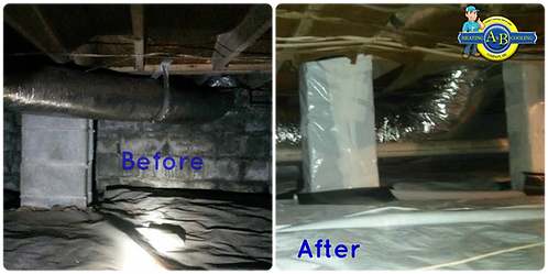 crawl space mold, crawlspace moisture, wet crawl space, moldy crawlspace