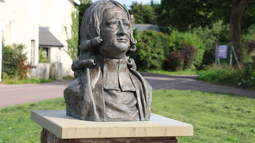 The Bust of John Wesley on the Green