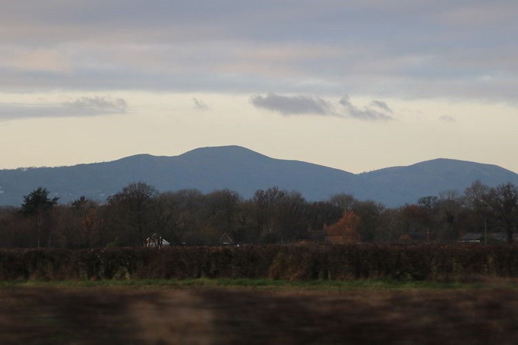 A Silhouette of the Malvern Hills