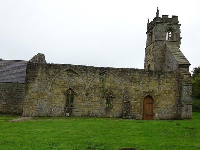 The church still remains