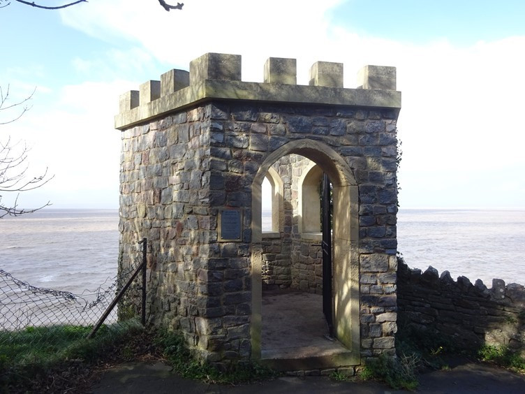 Overlooking the waters of the Bristol Channel