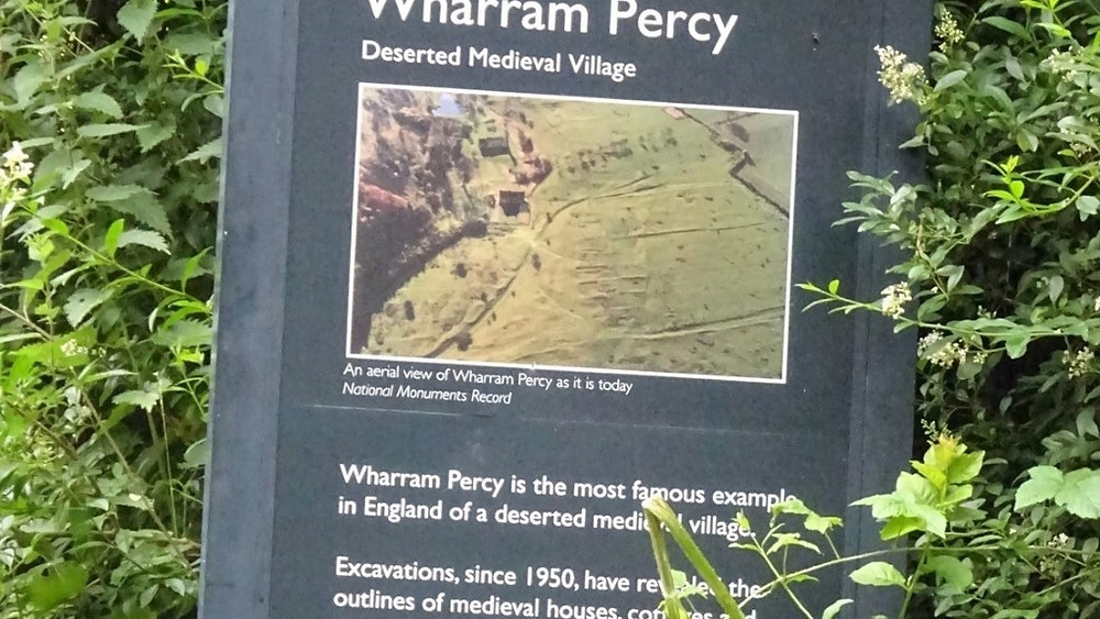 A Sign that leads to Wharram Percy