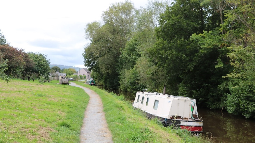A Canal Boat Moored Up Just Outside Brecon
