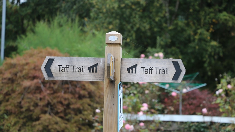 The Taff Trail Signs at Brecon