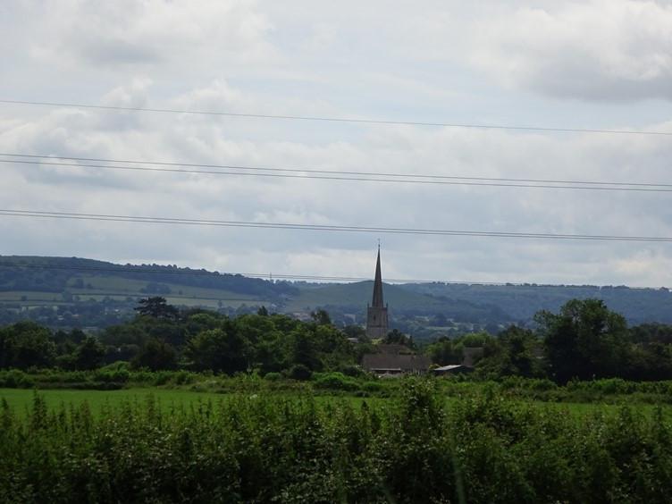 Slimbridge Church From the Surrounding Fields
