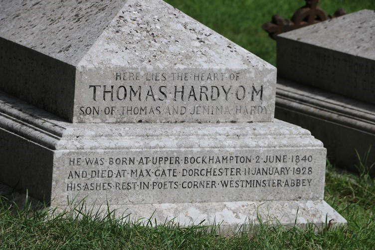 Thomas Hardy's Grave With Just His Heart