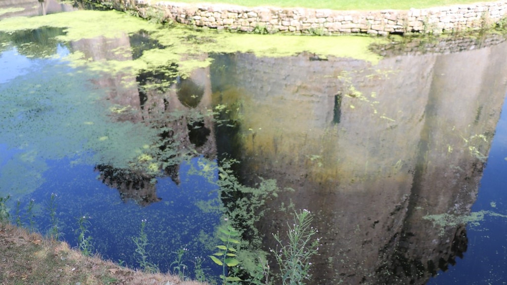 Reflections of a Past Castle in the Old Moat (watch for the water!)