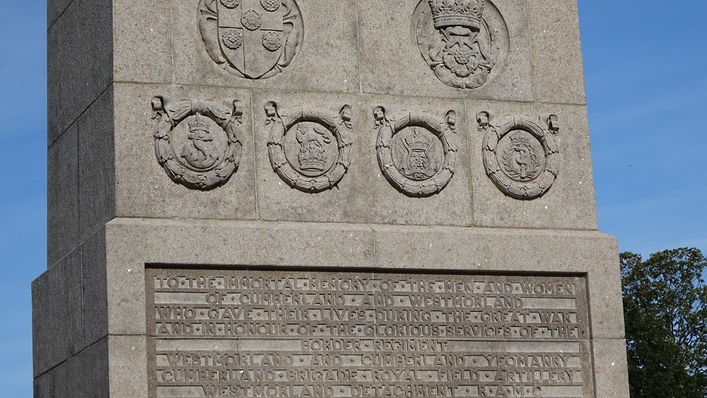 The Memorial to the men and women of Westmorland from the Great War