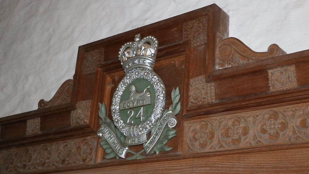 An Emblem of the South Wales Borderers at Brecon Cathedral's Havard Chapel