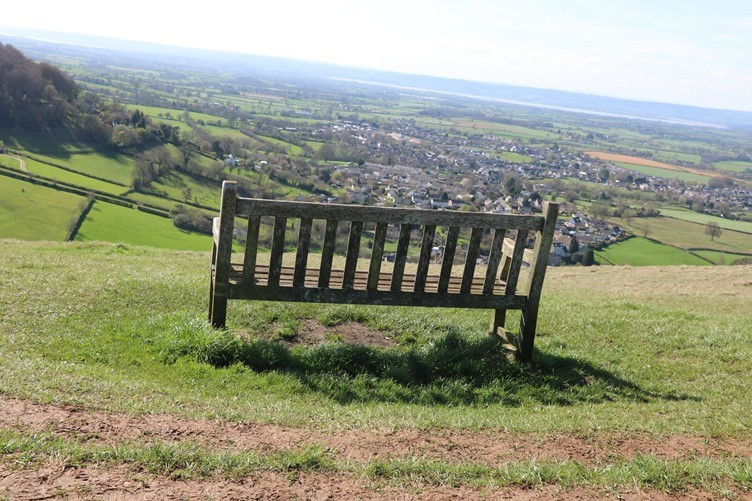 An Outlook over the Severn River Valley from the Cotswold Escarpment
