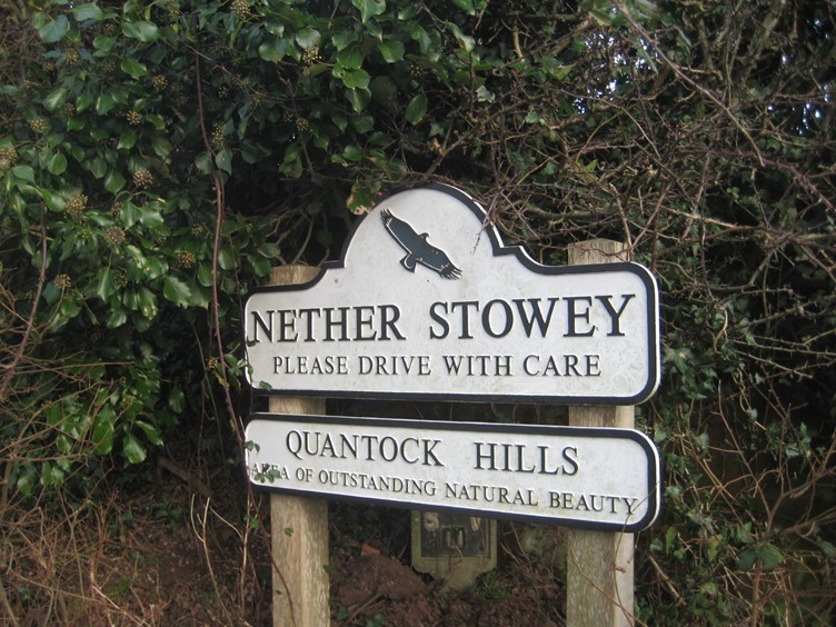 The Village of Nether Stowey Sign