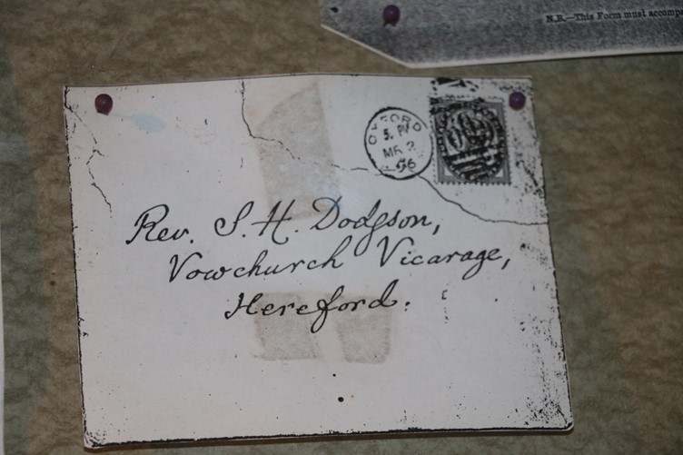 An Evelope addressed to Rev. Dodgson at Vowchurch Vicarage
