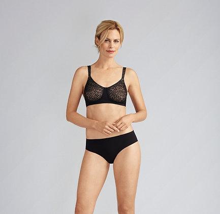 Amoena Annette Non Underwired Mastectomy Bra Black / Nude 43986