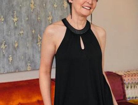 Amoena Mastectomy Sequin Top - Black 44660 2XL