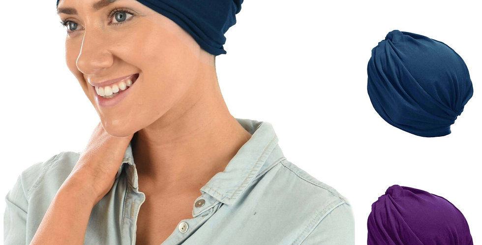 Slouch Jersey Turban - Dark Grey Only