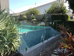 Frame-less Glass Fence Twin waters