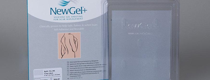 NewGel silicone Scar Management Silicone Gel Sheets Clear 12.5cm x 15cm NG-301