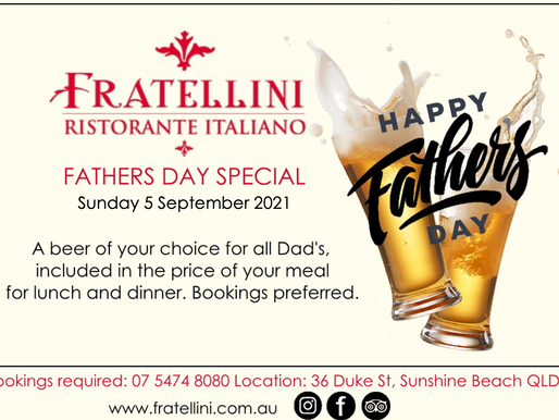 Fathers Day Specials at Fratellini