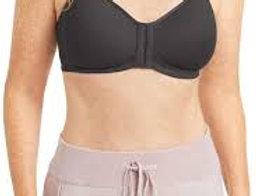 Amoena Mara Non-wired Front Closure Padded Mastectomy Bra - Dark Grey 44742