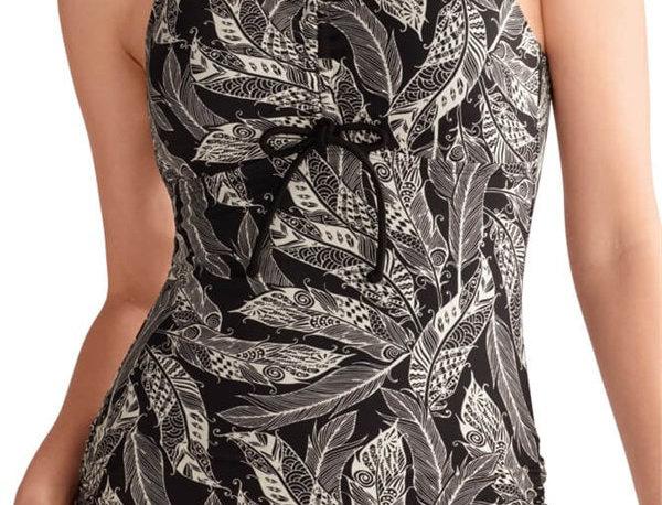 Amoena Ibiza Sarong Mastectomy Swimsuit - Black / Creme 71223