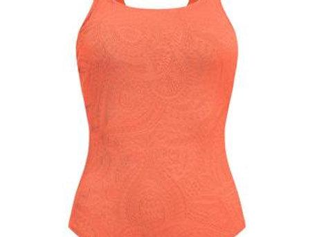 Amoena Panama One-Piece Mastectomy Swimsuit Dark Coral 71387