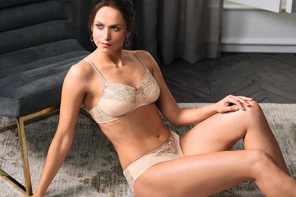 Amoena Celine Non Under Wired Mastectomy Bra - Light Rose / Grey 44509