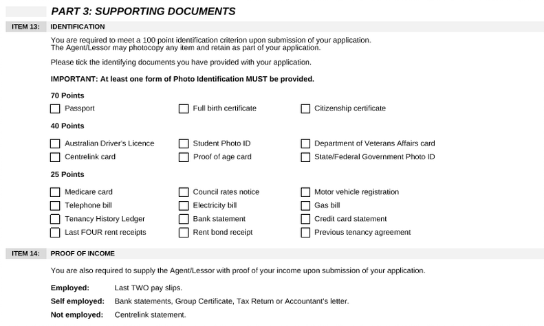 property management supporting documents