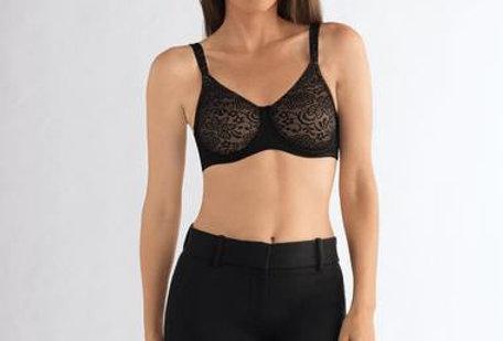 Amoena Annette Flexi Underwire Mastectomy Bra Black/Nude 1087