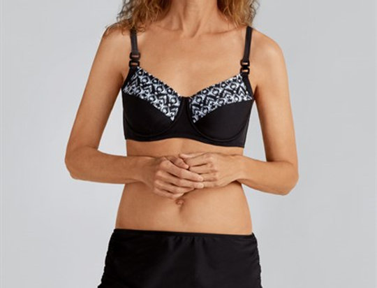 Amoena Lima Underwired Top Black and White 71002