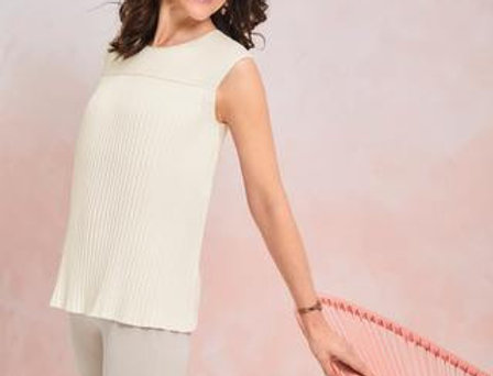 Amoena Mastectomy Plisse Shirt - Off-white 44661