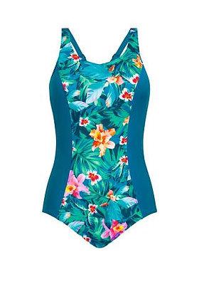 Amoena Mauritius Full Bodice Mastectomy Swimsuit Teal / Multi 71358