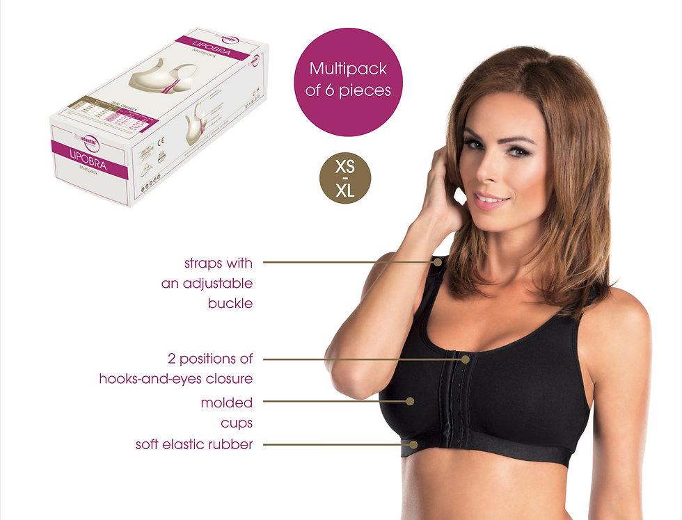 Lipobra Breast front opening bra basic Black