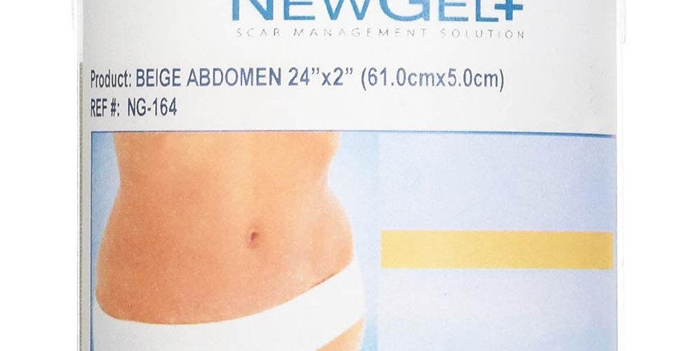 NewGel silicone Scar Management Silicone Gel Shapes For Abdomen 61.0 cm x 5.1 cm