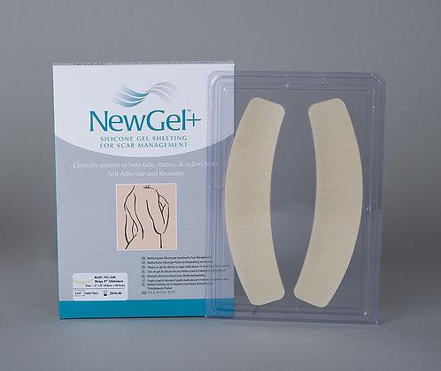 NewGel silicone Scar Management Silicone Gel Shapes For Abdomen 20.3cm x 5cm NG-